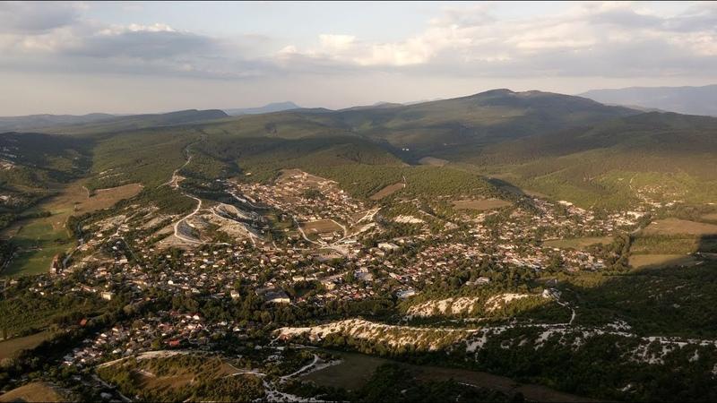 Крым. Скала Утюг в Бельбекском каньоне