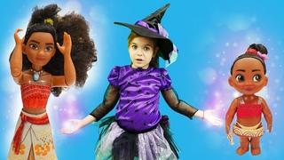 Моана стала маленькой. Шоу Ведьмочка Юлли: видео для девочек.