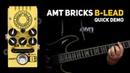 AMT Bricks B Lead tube preamp DEMO no talking