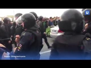 Жесткие задержания и драки с ОМОН 9 сентября