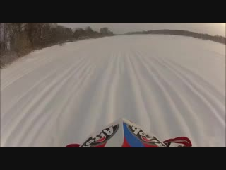 Мотоцикл ушёл под лёд.mp4