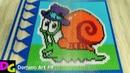Snail BoB from dominoes / Domino Art 9 / Улитка Боб