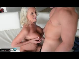 Katia May & Peter Green [ Mature / Pussy, Old with young, Shaved, Cumshot on chest]