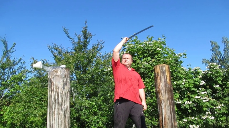 Рубка( с выхватом из ножен) мечом с геометрией катаны Мастера ИЗ.01.06.2019