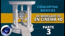 Conceptos básicos de modelado en Cinema4D ::: Parte 3