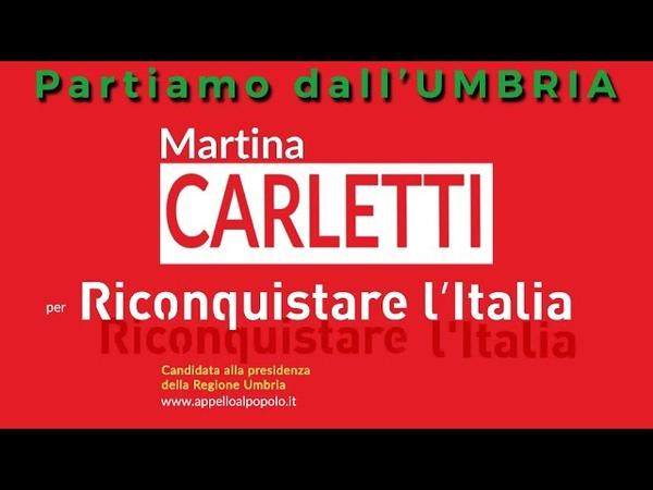 Elezioni Umbria 2019: Martina Carletti presidente per Riconquistare l'Italia
