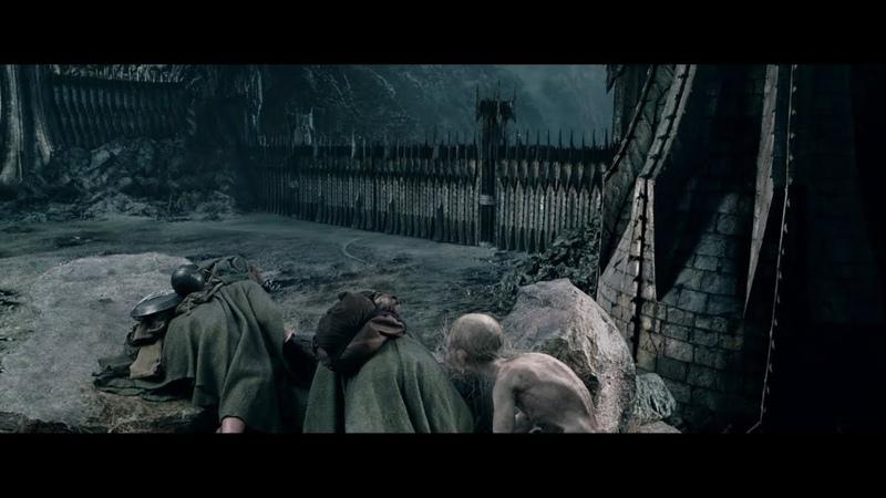 Gollum guía a Frodo y Sam a la Puerta Negra, escena HD castellano