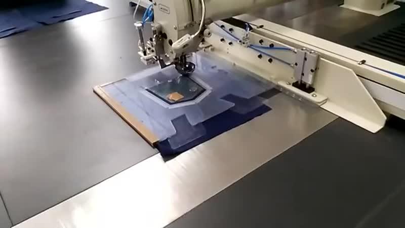 Изготовления накладного кармана в фабричном производстве с применением лекала из пластика