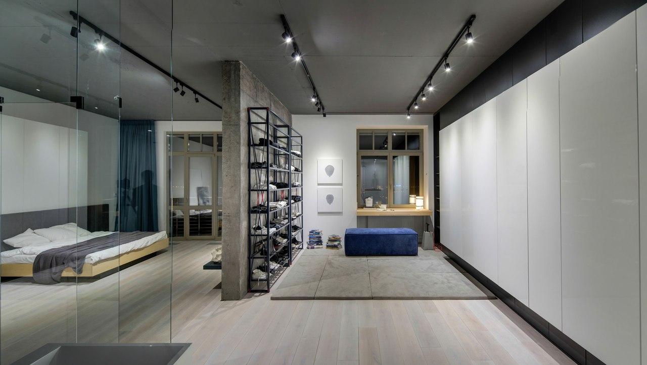 Квартира в стиле городского лофта с элементами минимализма.
