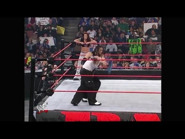 Jeff Hardy Lita vs Matt Hardy Raw 12.10.2001
