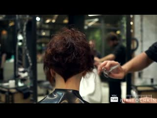 How to cut short womens haircut, curly hair