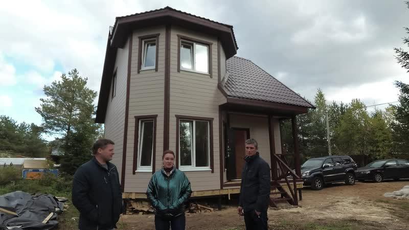 "Каркасный дом 7х7 м для ПМЖ в Ленобласти. Проект ""Ландыш 2""."