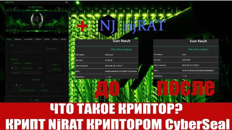 ЧТО ТАКОЕ КРИПТОР КРИПТ NjRAT КРИПТОРОМ CyberSeal