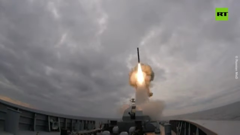250km in 2 min One of Russia's most advanced frigates fires Kalibr missile during drill 22