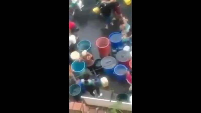 People in Venezuela fighting over water cubes because it does not come directly through pipes. Thanks socialism