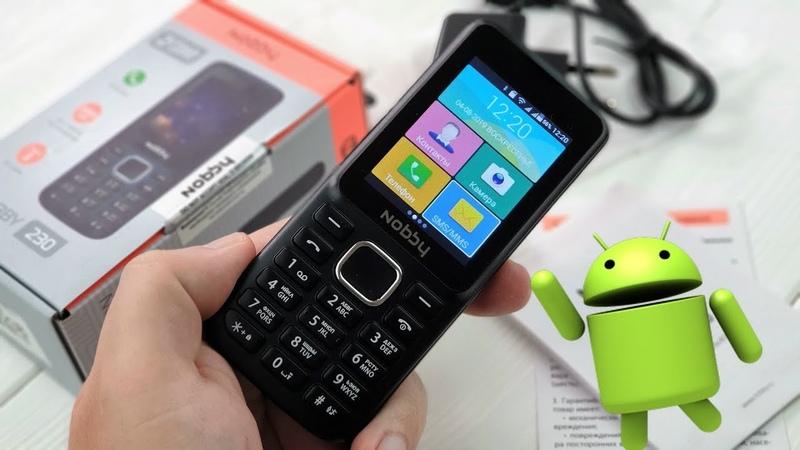 Nobby 230 самый дешевый Android на кнопках