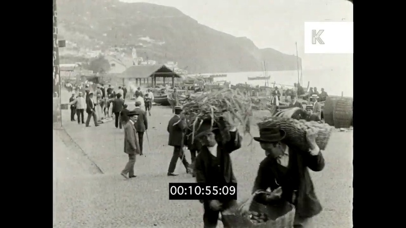 1910s Portugal Madeira Holiday Tourists 16mm