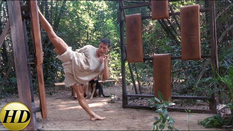 Курт усиленно тренируется с мастером Зеном. Кикбоксер 1989.