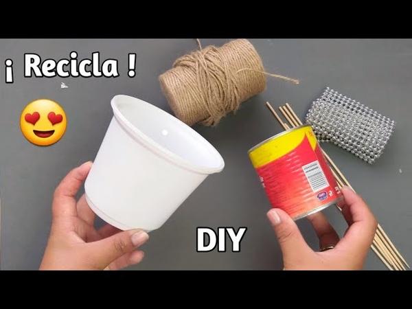 2 Lindas Manualidades Con Reciclaje Reutilizando Materiales Desechables diy