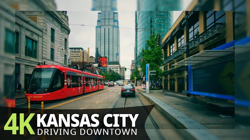 Kansas City 4K60fps Driving Downtown Missouri USA