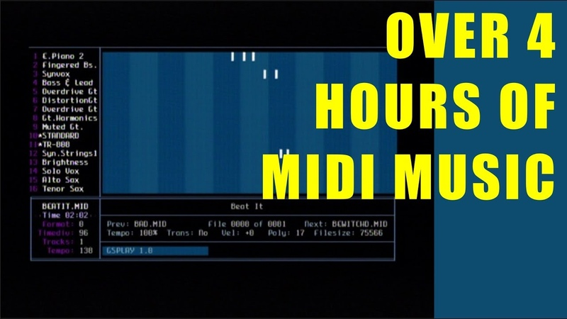 ▶ Over 4 Hours of MIDI Music Roland Sound Canvas (Roland SC-55) ★77