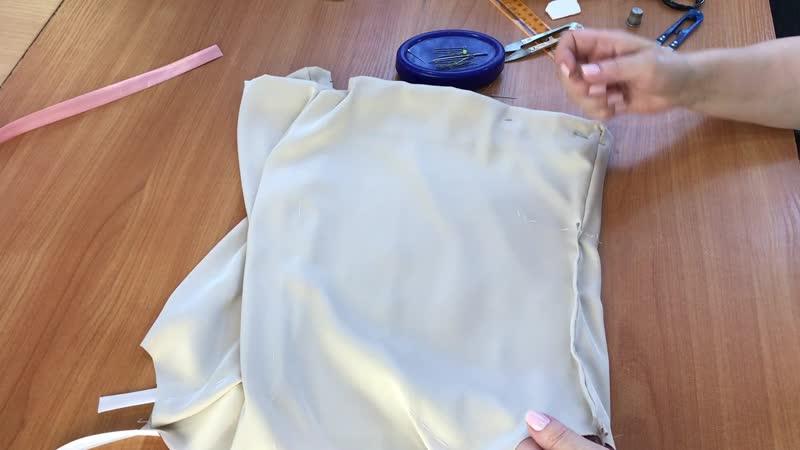 МК: Пошив шелковой майки. Часть 4