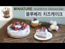 미니어쳐 블루베리 치즈케이크/miniature blueberry cheesecake