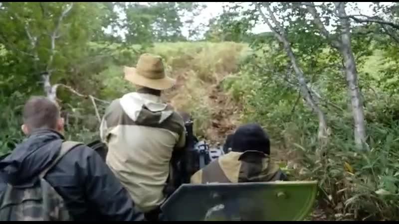 Остров Итуруп Вид с вездехода