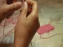 Вязание на спицах Итальянский набор петель первое видео