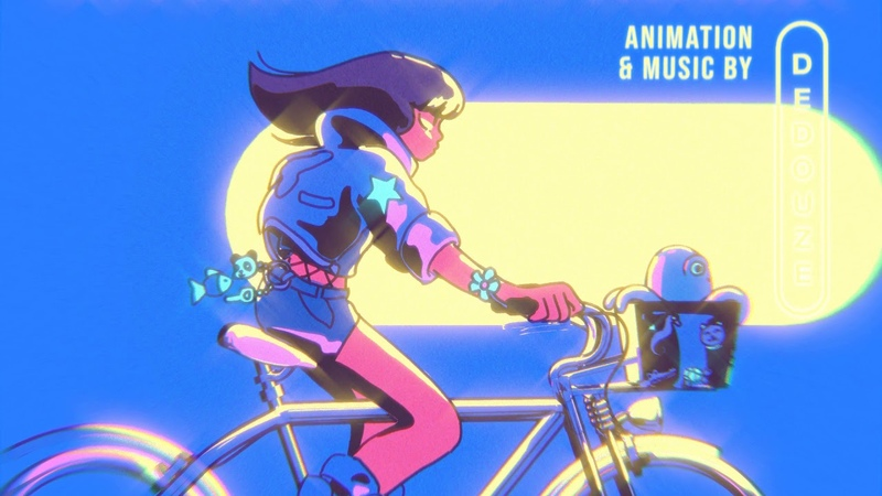 Starfield Rider Dedouze City pop retro 80's anime music Blender 2 8 greaspencil animation