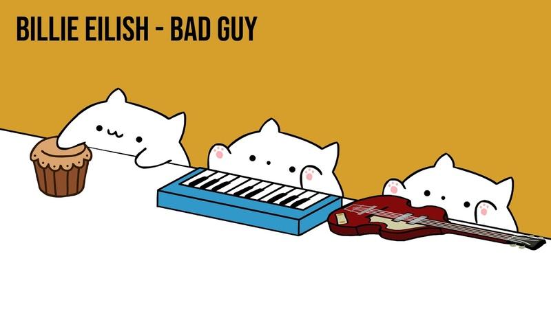 Bongo Cat - Billie Eilish bad guy (Cat Cover)