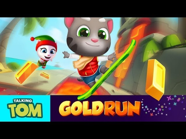 🌋 Huge Catapult Jumps in NEW WORLD 🌴 Talking Tom Gold Run Gameplay