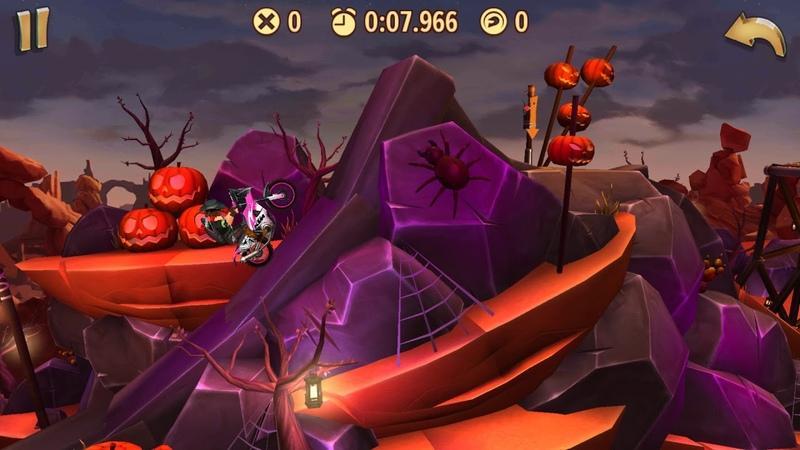 Trials Frontier WRs - Pumpkin Desert / Normal (16.849) by Nesox_ (iOS)