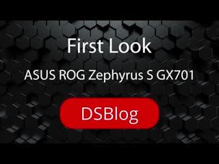 Первый тонкий игровой ноутбук с RTX 2080 Max-Q и экраном 17. Обзор ASUS ROG Zephyrus GX701. (720p)