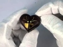 Illusionist modified pendant -- Natural wood locket with its shape changing into heart or oval