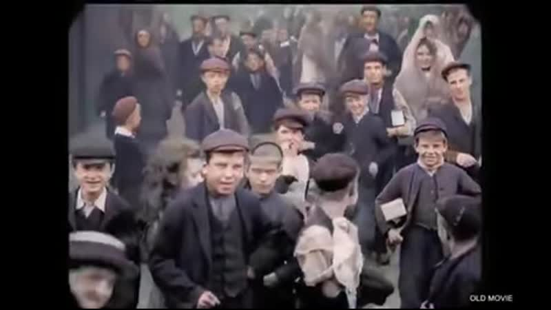 1901 England Child worker in front of the camera unnamed English town Colorized and speed adjusted