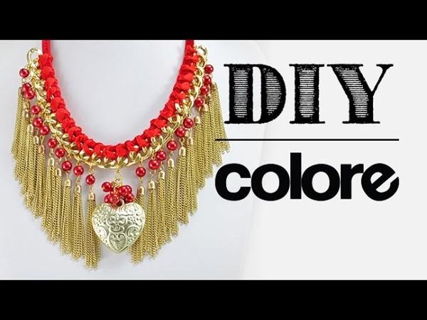 DIY Collar con Cadena y Dije Corazón Colore Accesorios