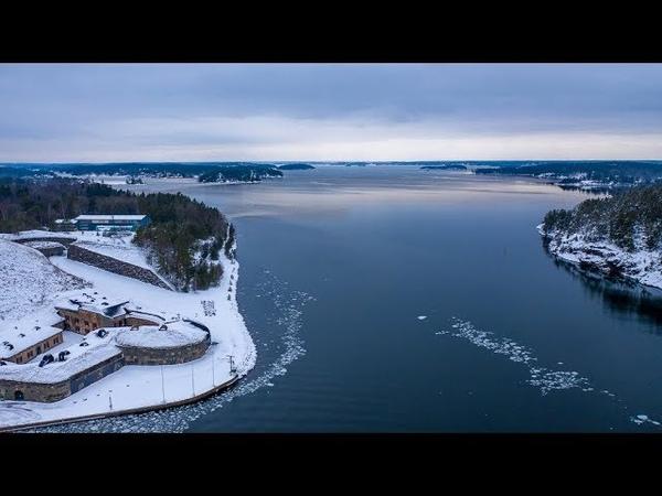 Oskar-Fredriksborg Fortess in wintertime