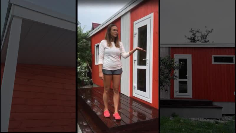 Видеоотзыв компактная баня Хотбокс 4*2 4 метра с хоз блоком и дровником