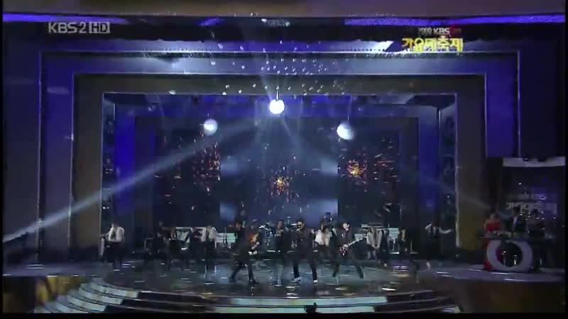 SHINee Cover - - Michael Jackson - Beat It - w g.o.d Kim Taewoo TRAX Jungmo - - 091229 SBS Gayo Daejun - - SHINee Jonghyun