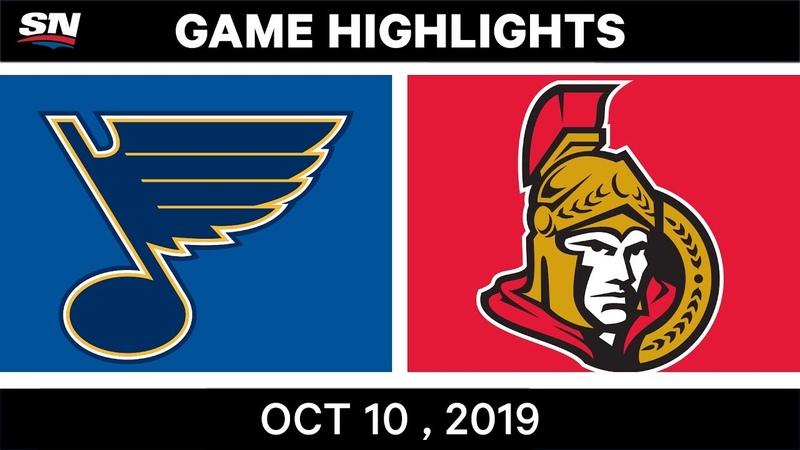 NHL Highlights | Blues vs. Senators - Oct. 10, 2019