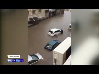 В Крыму устраняют последствия сильнейшего ливня.