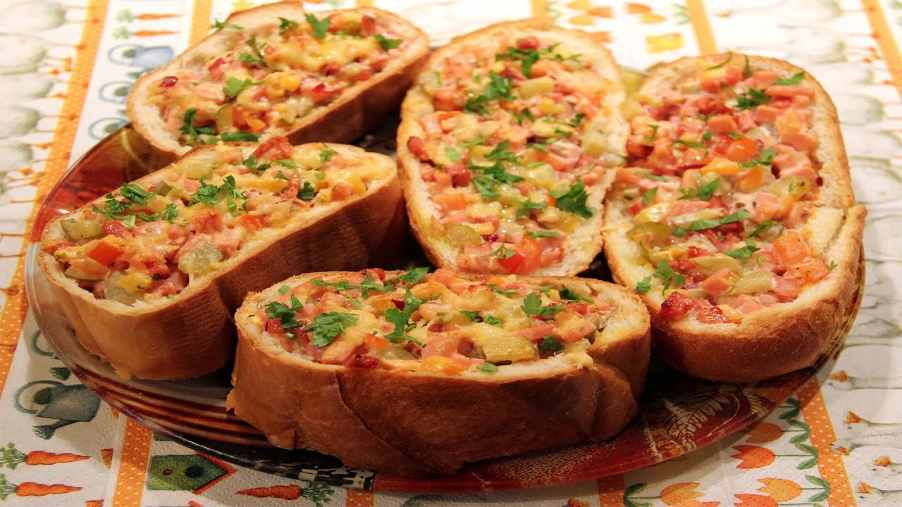  Кулинарная рубрика    Пицца на батоне