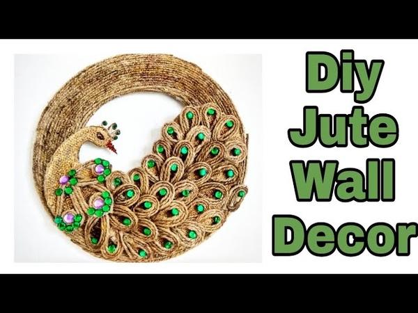 Diy jute craft Diy peacock jute craft Diy wall decor with jute Jute craft ideas Jute crafts