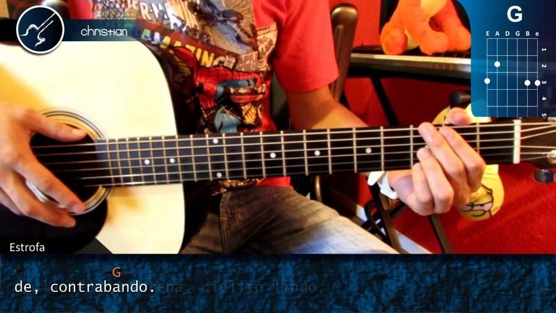 Cómo tocar Cielito Lindo en Guitarra Acústica HD Acordes Christianvib