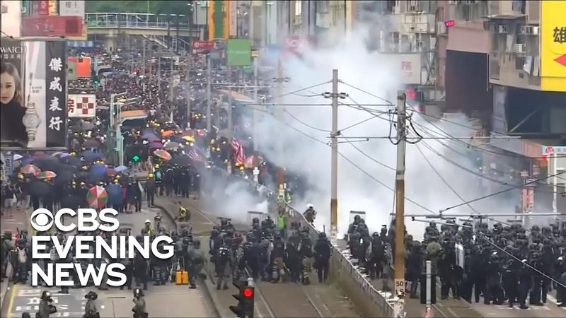 Protest in Hong Kong takes drastic turn in mob attack involving police