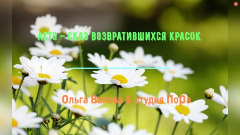 ЛЕТО СКАЗ ВОЗВРАТИВШИХСЯ СКАЗОК Ольга Валова Олег Ветошев