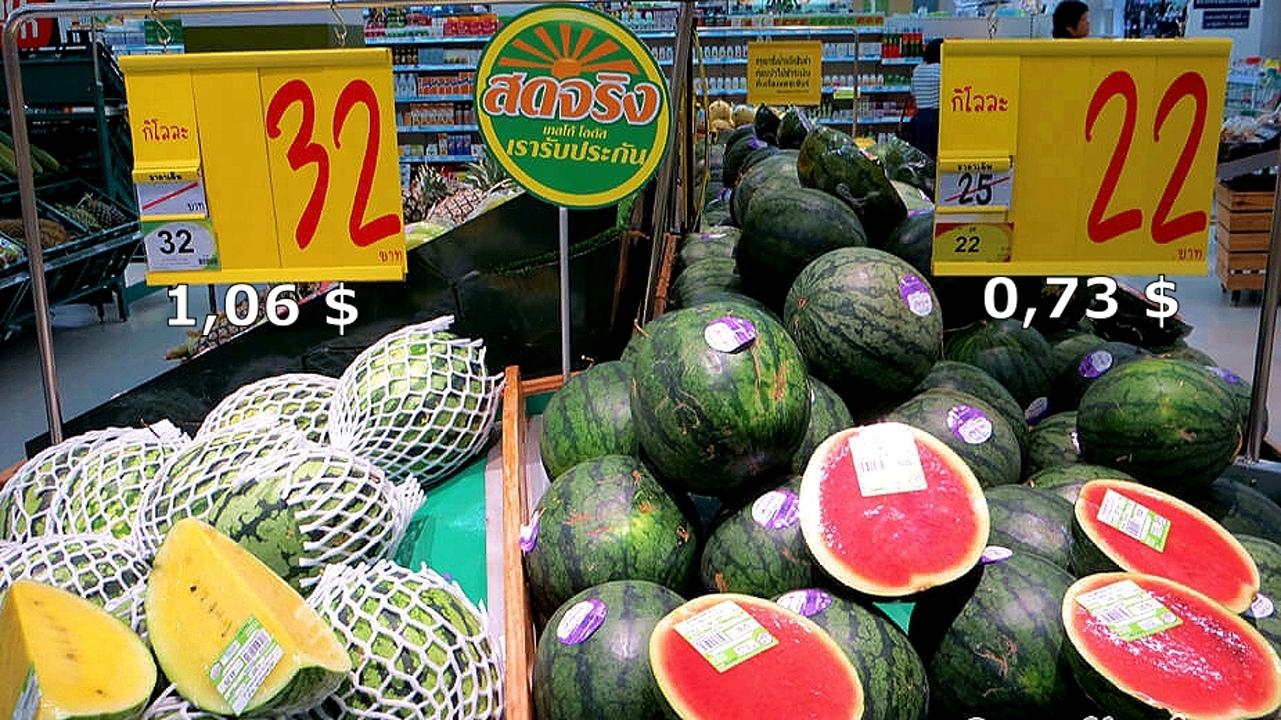 Цены на продукты и еду в Таиланде.  GpOQTCSI0dg
