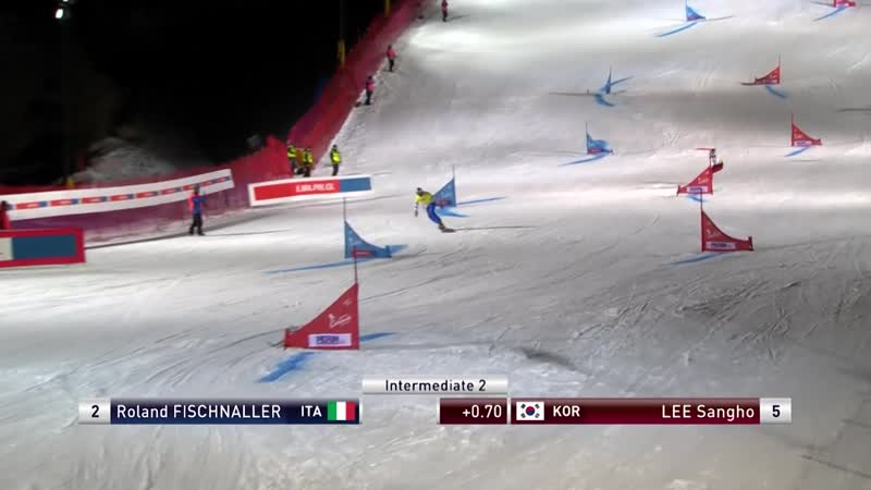 Fischnaller vs Lee Mens Big Final PGS Cortina FIS Snowboard