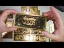 Золотые банкноты 1 2 5 10 20 50 и 100 долларов США с Алиэкспресс